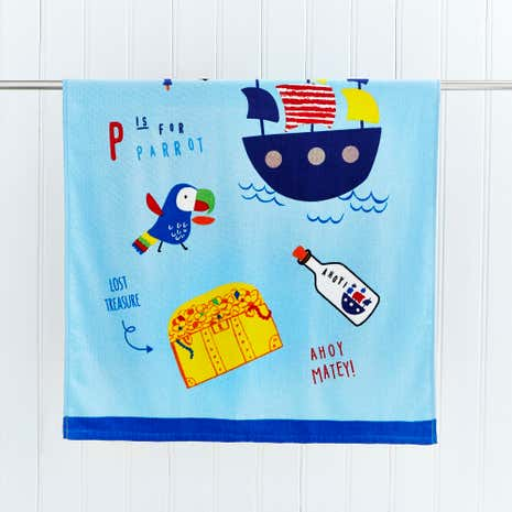 Pirate Panda Bath Towel