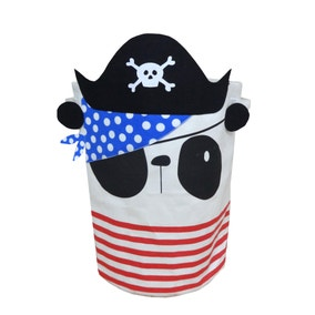 Pirate Panda Laundry Basket