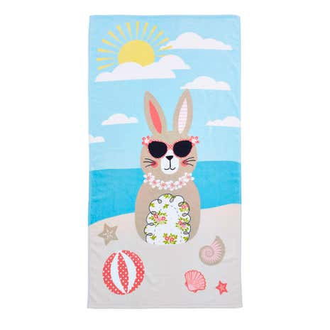 Katy Rabbit Beach Towel