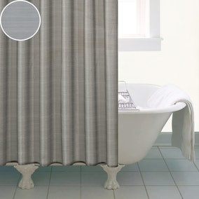 Silver Sparkle Shower Curtain