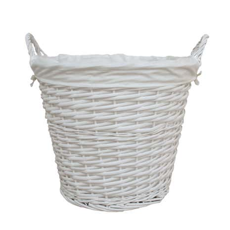 Versailles White Large Basket