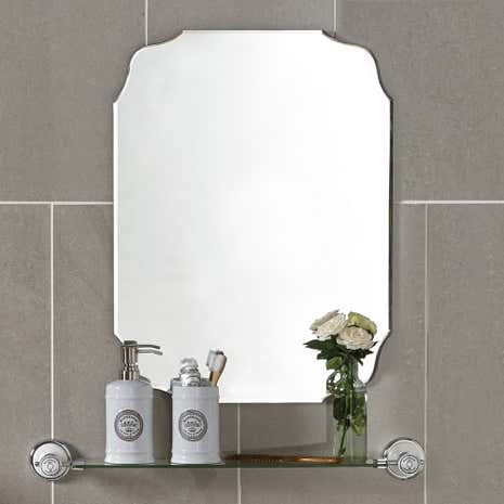 bevelled edge bathroom mirror vintage bevelled edge mirror dunelm 17358