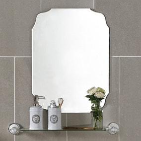 bathroom mirror. Vintage Bevelled Edge Mirror Bathroom C