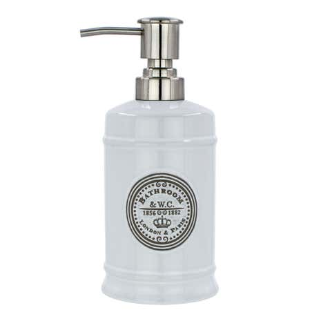 Vintage White Lotion Dispenser