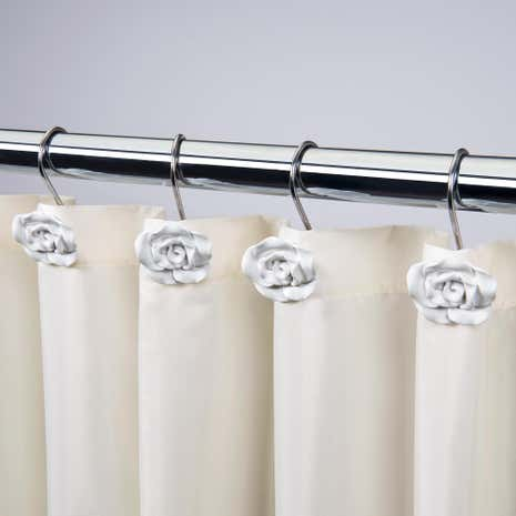 Pack of 12 Vintage Shower Curtain Hooks