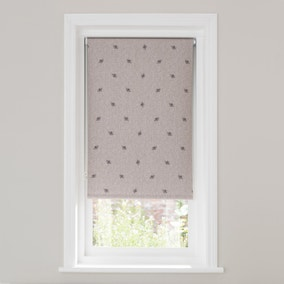 Bees Linen Blackout Roller Blind