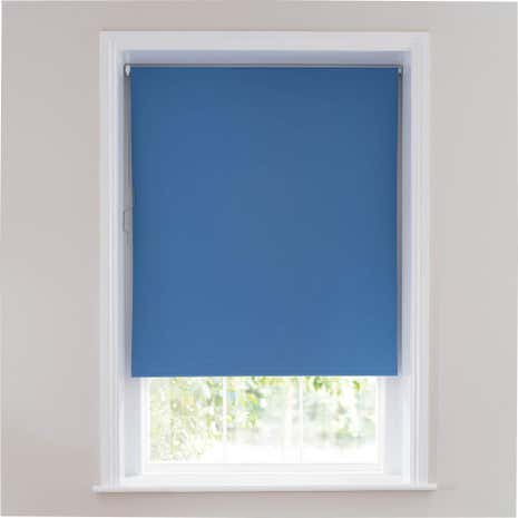 Denim Blue Blackout Cordless Roller Blind