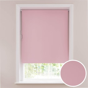 Soft Pink Blackout Cordless Roller Blind