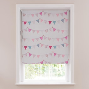 Pink Bunting Blackout Cordless Roller Blind