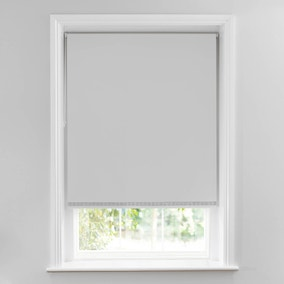 Diamante Strip Silver Blackout Roller Blind