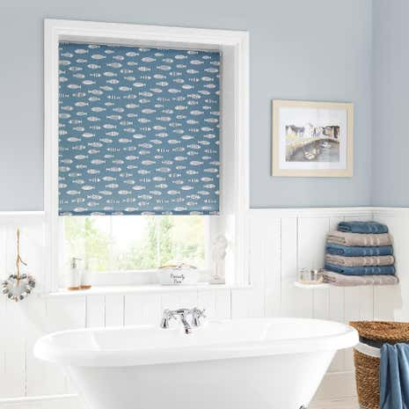 blinds for bathroom window. Blue Fish Daylight Moisture Resistant Roller Blind Blinds For Bathroom Window H