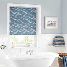 Blue Fish Daylight Moisture Resistant Roller Blind