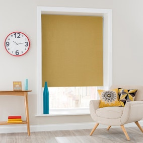 Luna Ochre Blackout Roller Blind