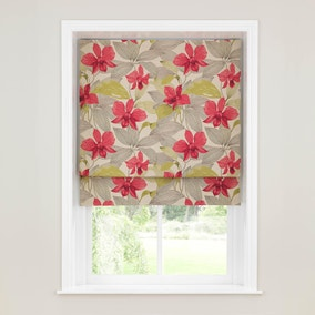 Paradise Pink Lined Roman Blind