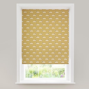 Sausage Dog Ochre Daylight Roller Blind
