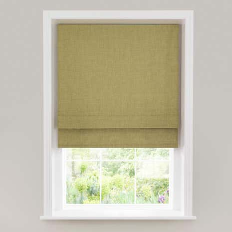 Verona Green Lined Roman Blind