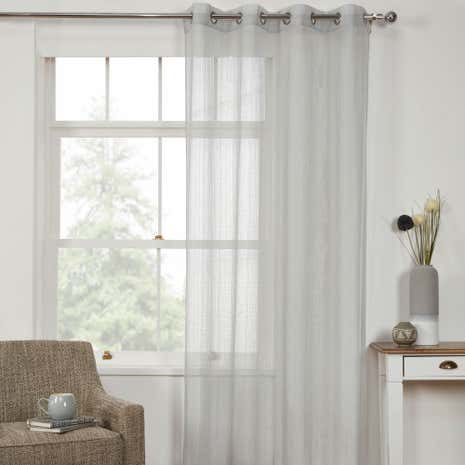 Captivating Aspen Grey Voile Panel