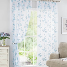 Duck Egg Butterfly Voile