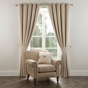 Dorma Chatsworth Linen Blackout Eyelet Curtains