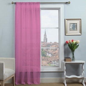 Dynamic Pink Voile Panel