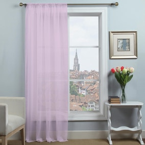 Dynamic Lilac Voile Panel
