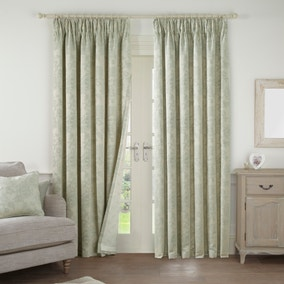 Frances Sage Lined Pencil Pleat Curtains