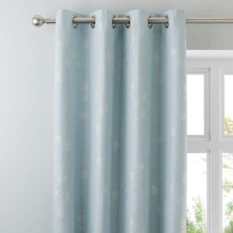Honesty Seafoam Lined Eyelet Curtains