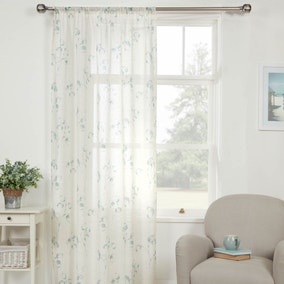 Honesty Teal Voile Panel
