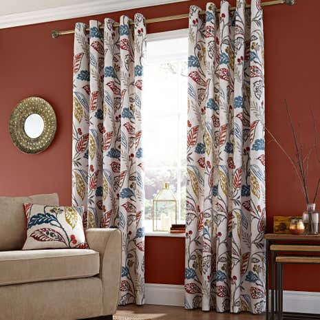 Indiana Lined Eyelet Curtains