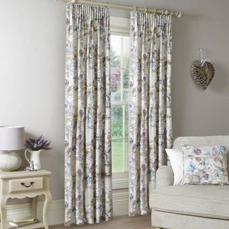 floral darcie purples mauve curtains purple to made measure