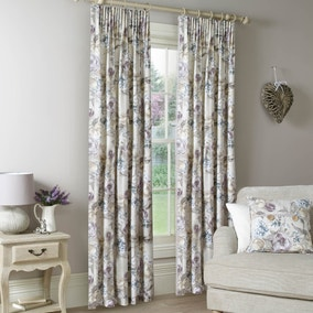 Isabella Mauve Lined Pencil Pleat Curtains