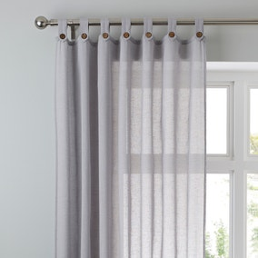 Marley Dove Grey Voile Panel
