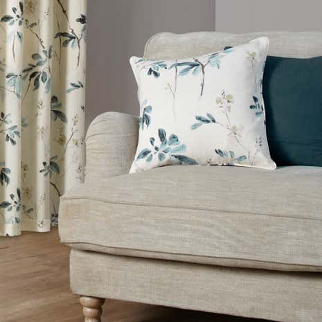 Oriental Burst Teal Cushion