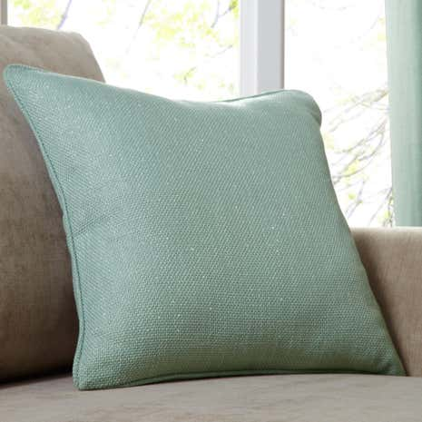 Shimmer Seafoam Cushion