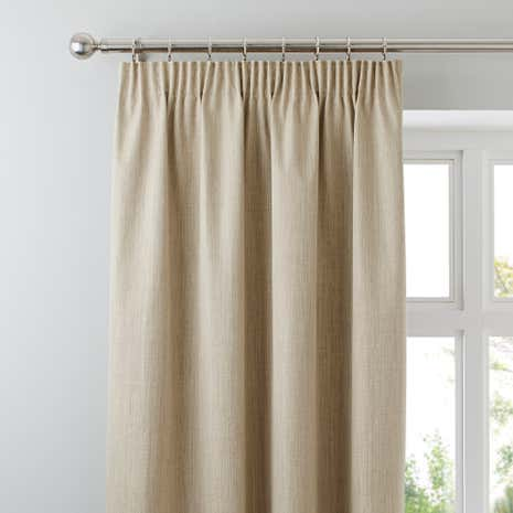 Solar Ecru Blackout Pencil Pleat Curtains