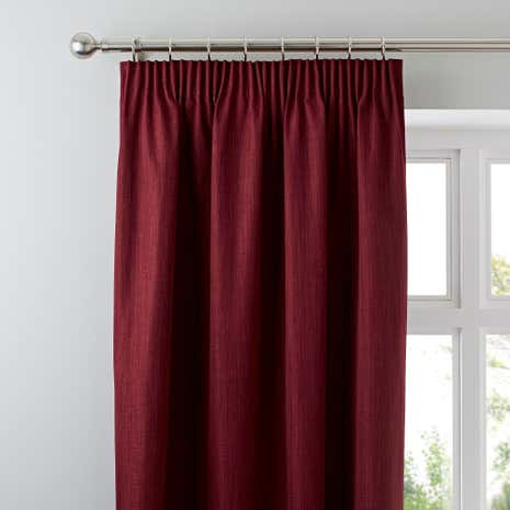 Solar Wine Blackout Pencil Pleat Curtains