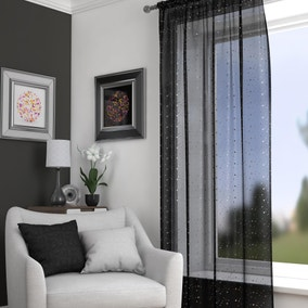 Sparkle Black Slot Top Voile Panel