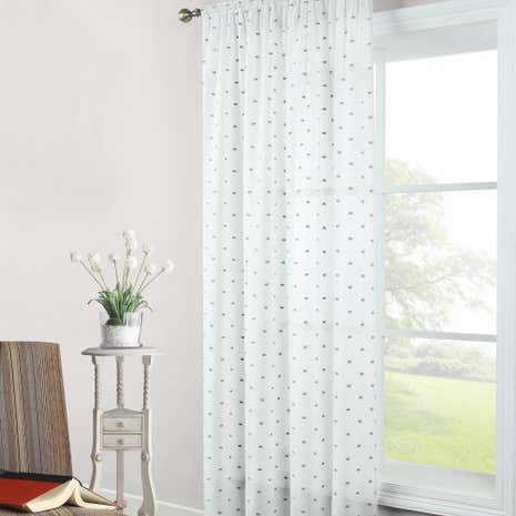Stratford Grey Slot Top Voile