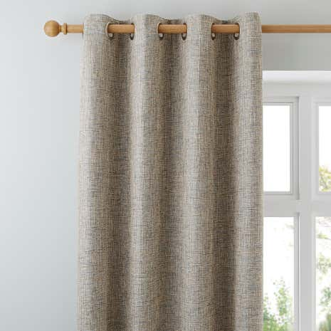 Thornton Blue Lined Eyelet Curtains