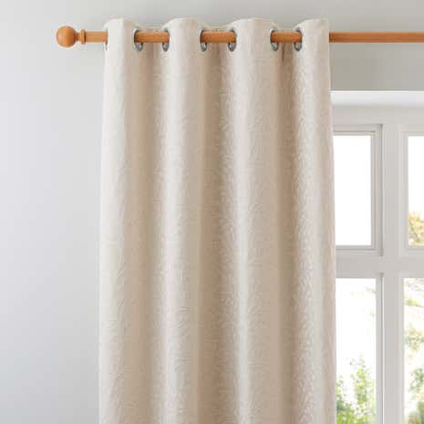 Willow Ivory Lined Eyelet Curtains