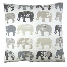 Anais Grey Elephant Cushion Cover
