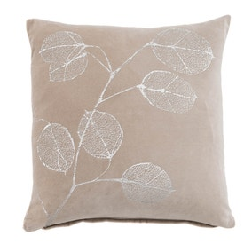 Bella Leaf Silver Cushion