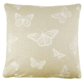 Butterfly Cream Cushion Cover