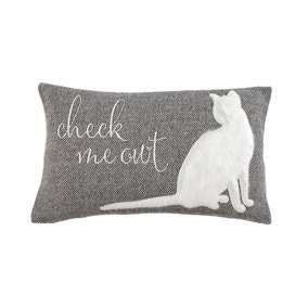 Check Meowt Grey Cushion