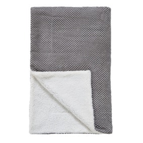 Chenille Spot Grey Throw