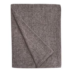 Chenille Charcoal Throw