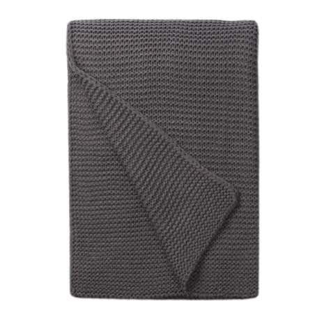 Charcoal Chunky Breckon Throw