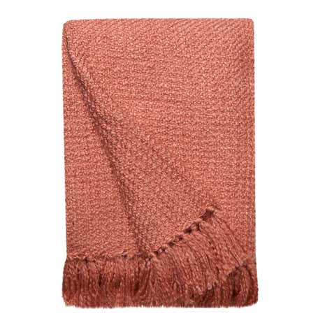 Coral Chunky Chelsea Throw