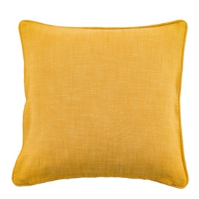 Cotton Slub Ochre Cushion