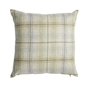 Devon Green Check Cushion